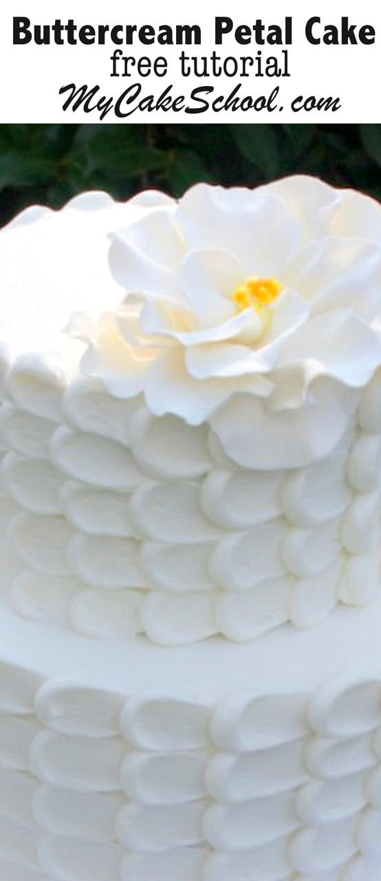 Learn how to make a gorgeous Buttercream Petal Cake in this MyCakeSchool.com free tutorial!