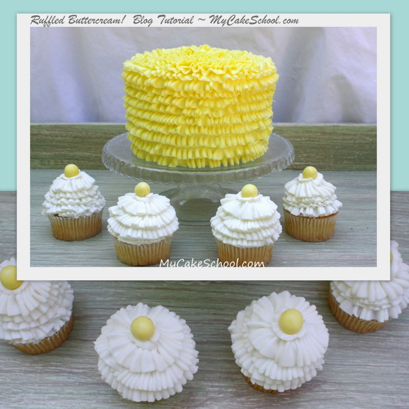 Learn to Create Beautiful Buttercream Ruffles with Piping Tips 050 & 070!