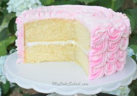 White Almond Sour Cream Cake- A Doctored Cake Mix Recipe