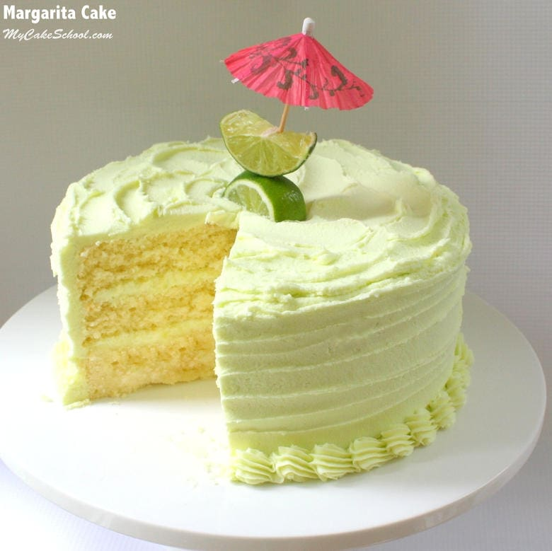Amazing Margarita Cake with Tequila Lime Buttercream! SO delicious and perfect for summertime!