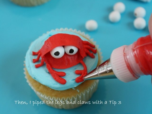 The cutest beach themed cupcake tutorial by My Cake School! Free tutorial!