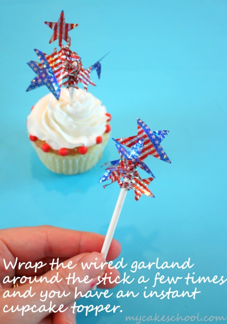 Cute and Easy Cupcake Designs for July 4th! Free Cupcake Tutorial by MyCakeSchool.com!