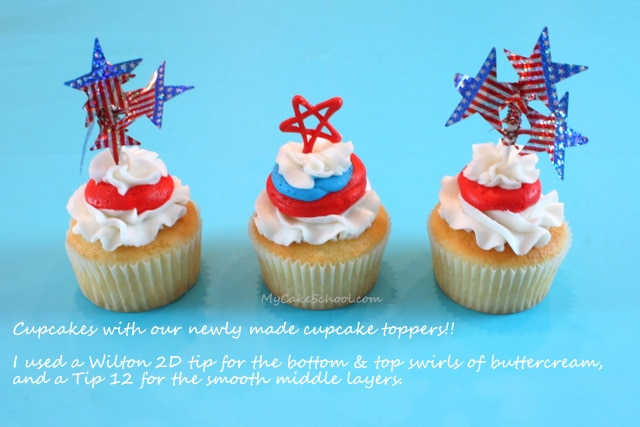 Festive Fourth of July Cupcake Tutorial by MyCakeSchool.com!