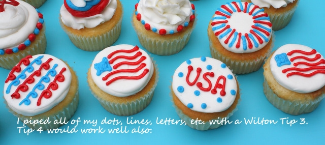 July 4th Cupcakes by MyCakeSchool.com! Free Cupcake Tutorial!
