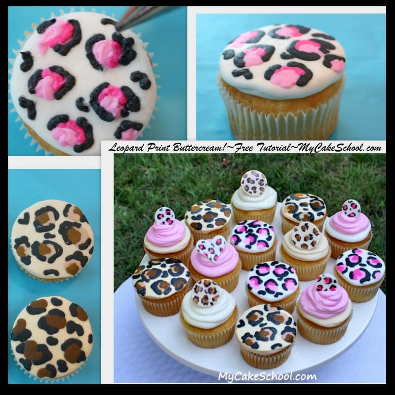 FUN! Learn to make leopard print cupcakes in this MyCakeSchool.com free cake tutorial!