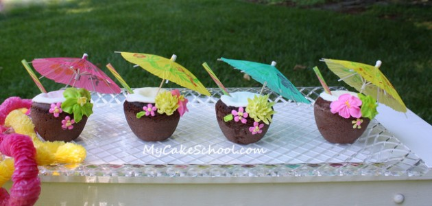"""Coconut """"Drink"""" Cakes~A Blog Tutorial"""