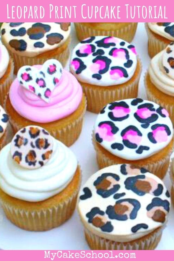 Learn how to make cute Leopard Print Cupcakes and Cupcake Toppers