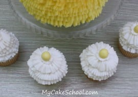 Learn to pipe beautiful buttercream ruffles with a tip 070 in this My Cake School video!
