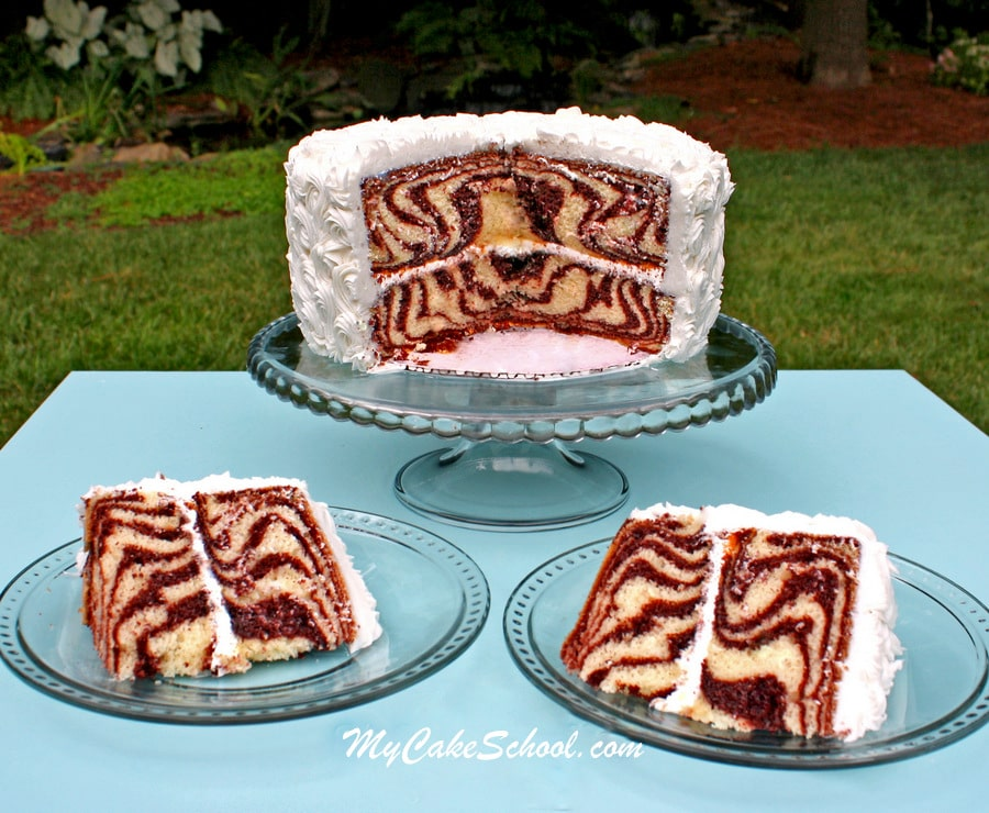Zebra Cake Tutorial by MyCakeSchool.com!