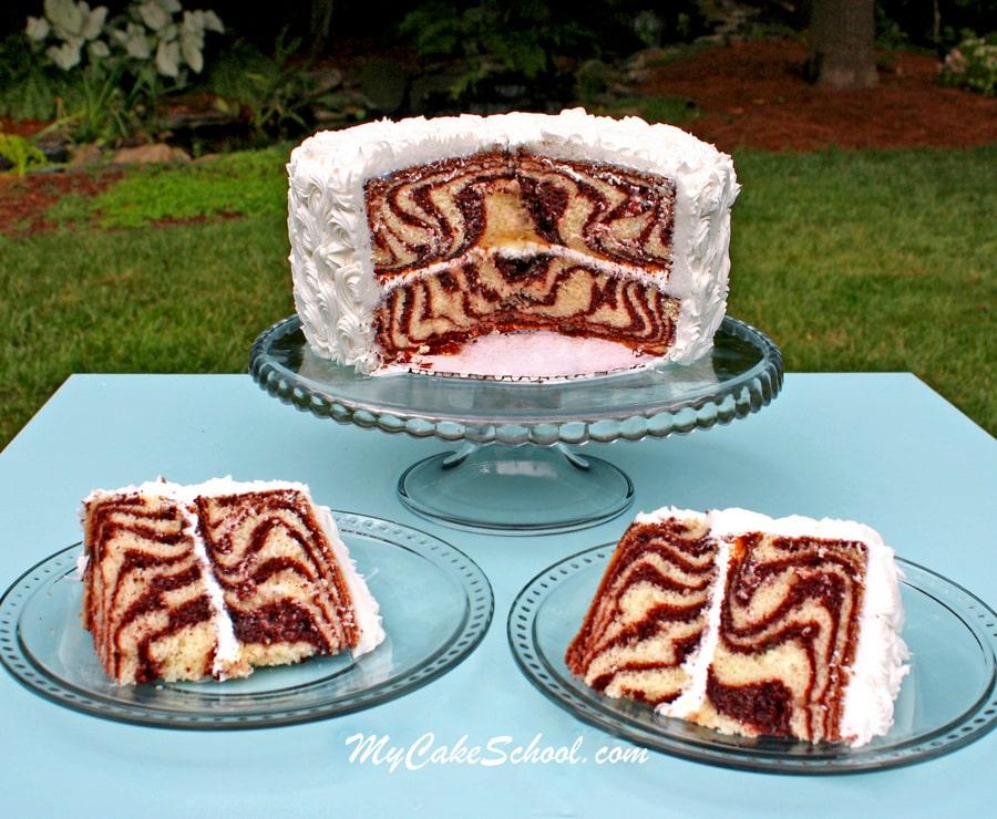 Learn How to Make a Zebra Cake in MyCakeSchool.com's free Cake Decorating Tutorial!