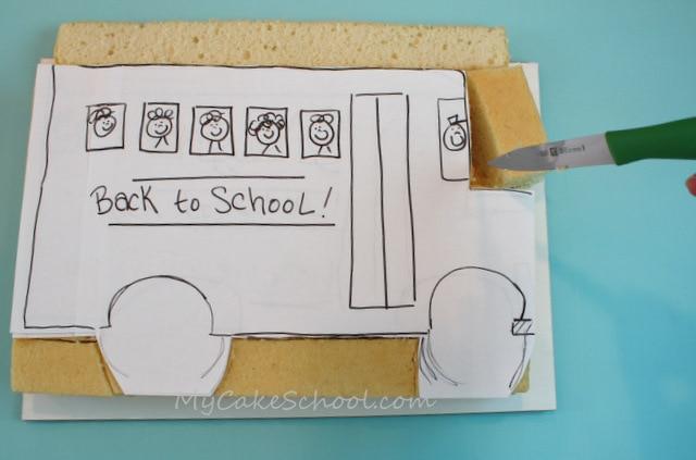 Adorable Back to School Cake and Cupcakes! Free cake decorating tutorial by MyCakeSchool.com! Online cake classes & recipes!