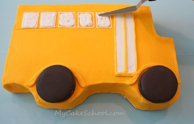 Adorable Back to School Cake and Cupcakes! Free cake decorating tutorial by MyCakeSchool.com! Online cake classes & recipes!