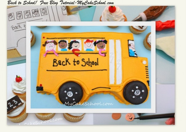 Back to School Cake & Cupcakes!