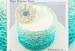 Ruffled Buttercream in Shades of Teal~ Member Video Tutorial Library~ MyCakeSchool.com