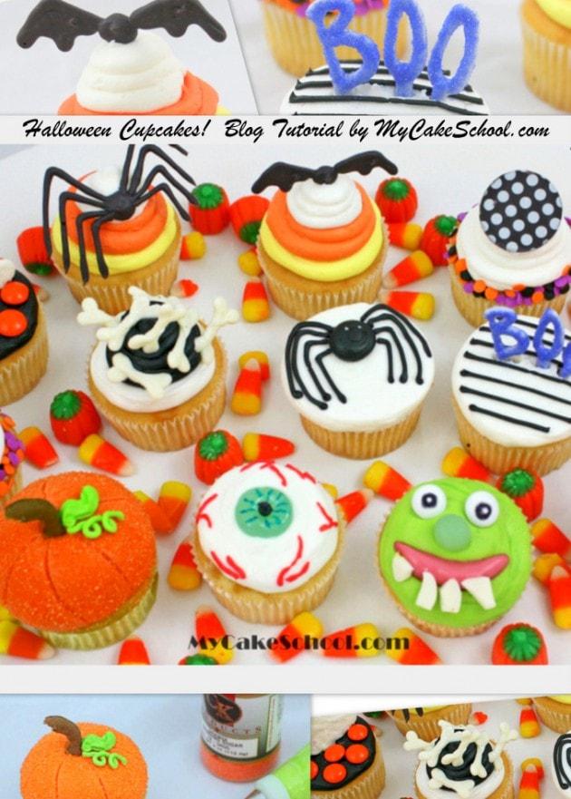 Halloween Cupcakes Tutorial by MyCakeSchool.com