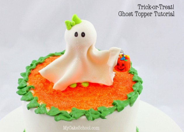 Trick or Treat!  How to Make a Ghost Topper