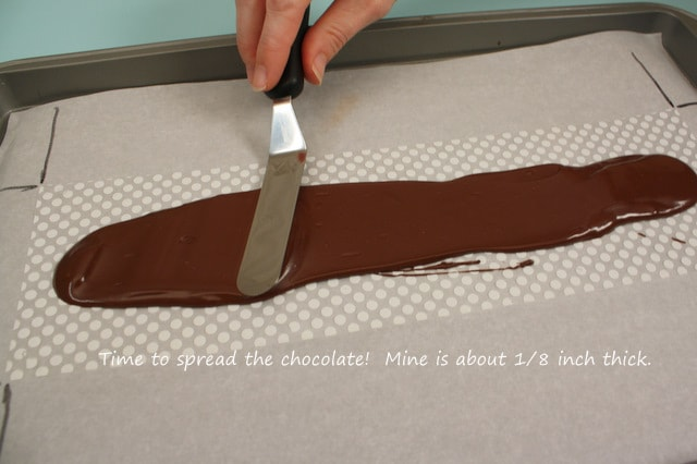 Make Elegant Chocolate Decorations using Chocolate Transfer Sheets! Free Cake Tutorial by MyCakeSchool.com.