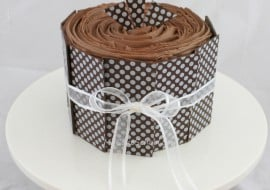 Learn how to use Chocolate Transfer Sheets in this free step by step cake tutorial by MyCakeSchool.com! So simple and beautiful!