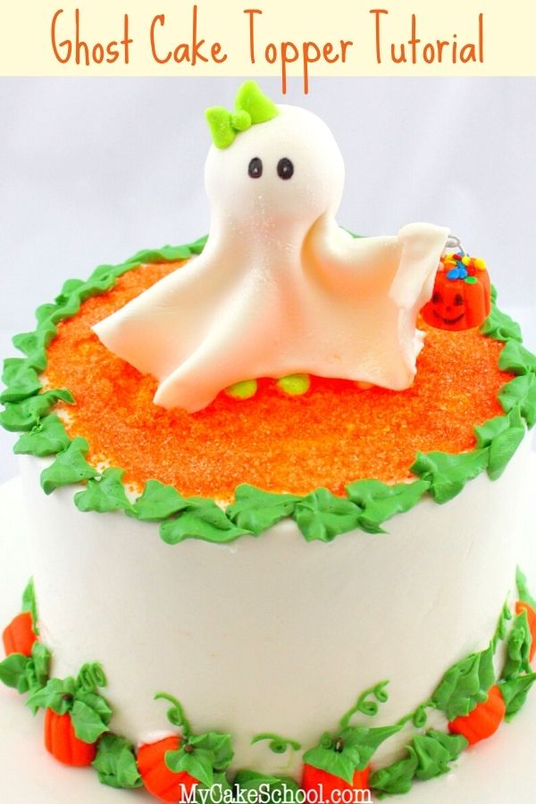 Learn how to make this cute and easy Ghost Cake Topper in our free tutorial!
