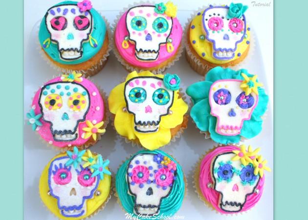El Dia de los Muertos–A Cupcake Tutorial!
