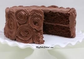 Chocolate Cake {Doctored Cake Mix Recipe} by MyCakeSchool.com