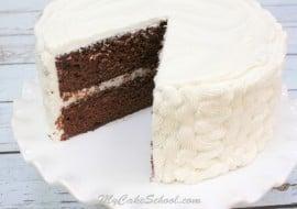 Chocolate Sour Cream Cake-Doctored Mix! MyCakeSchool.com