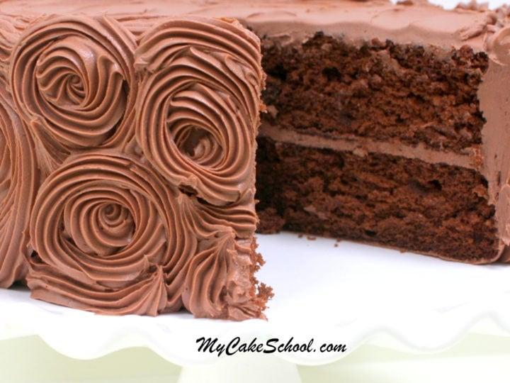 Chocolate Cake A Doctored Mix Recipe My Cake School