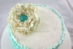 Ruffled Flower from Ruffled Shades of Teal Cake