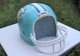 Football Helmet Cake! A Cake Decorating Video by MyCakeSchool.com!