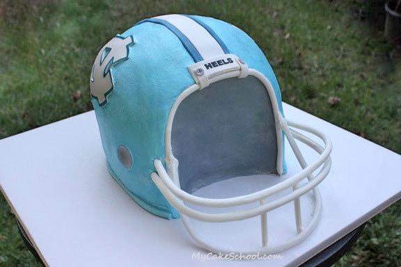 Football Helmet Cake! A Cake Decorating Video by MyCakeSchool.com!
