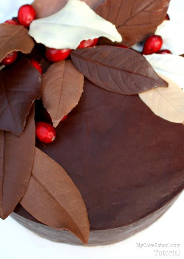 Elegant Chocolate Leaves! Free Tutorial by MyCakeSchool.com