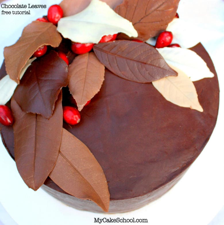 How to make chocolate leaves free autumn cake tutorial - How to make decorative cakes ...