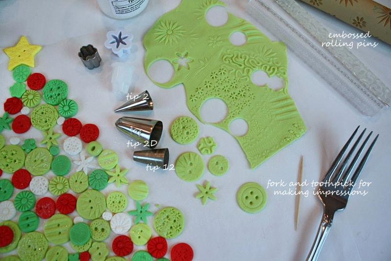 Christmas Tree of Buttons Cake Tutorial by MyCakeSchool.com! You'll love this fun, free cake tutorial!