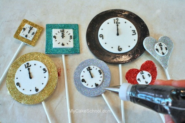 The PERFECT Cake Design for New Year's Eve! Free Clock Themed Cake Decorating Tutorial by MyCakeSchool.com!