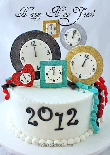 the perfect cake design for new years eve free clock themed cake decorating tutorial by