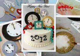 The CUTEST New Year's Eve Cake Decorating Tutorial by MyCakeSchool.com!