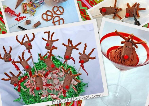 Adorable, Simple, Reindeer Candy Bars!