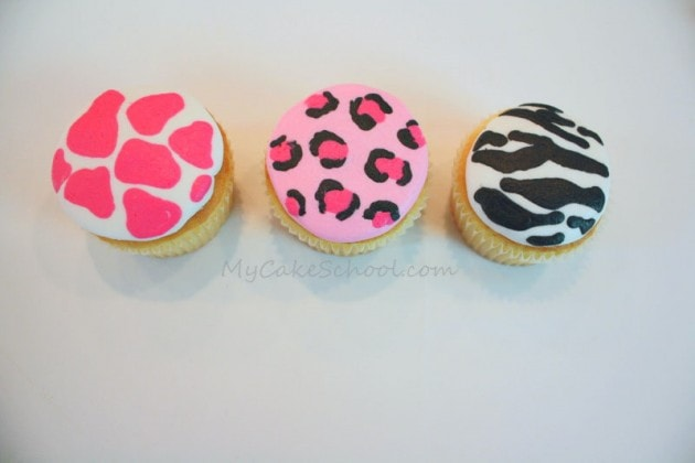 Wild About You! These adorable animal print cupcakes are perfect for Valentine's Day! Tutorial by MyCakeSchool.com!