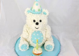 Cute Teddy Bear Cake! A Buttercream Cake Decorating Video by My Cake School!