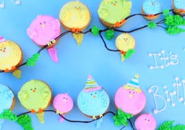 A Little Birdie Told Me It's Your Birthday! CUTE birdie cupcake tutorial by MyCakeSchool.com! Free step by step tutorial.