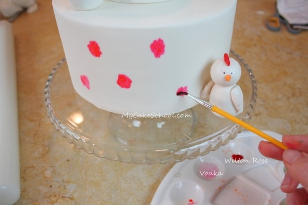 Forever a Spring Chicken! Adorable cake tutorial by MyCakeSchool.com, and perfect for milestone birthdays!