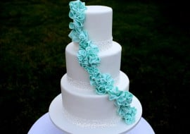 Elegant Garland of Ruffles- A Member Cake Video Tutorial from MyCakeSchool.com