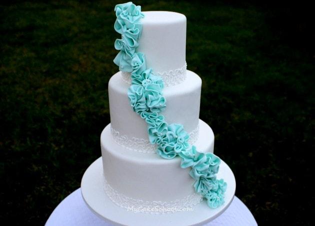Elegant Garland of Ruffles- A Member Cake Video Tutorial from MyCakeSchool.com