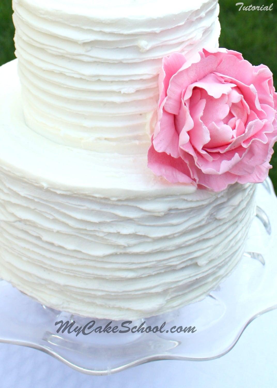 Cake Designs And Techniques : Ridged Buttercream Technique-Video My Cake School