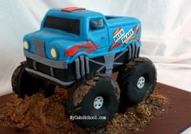 Learn to Create an Fabulous Monster Truck Cake in this MyCakeSchool.com Tutorial!