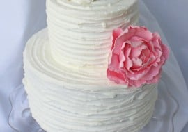 Rustic Ridged Buttercream Cake Decorating Video Tutorial by MyCakeSchool.com! Online Cake Video Tutorial!