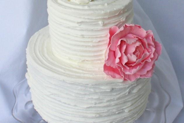 Rustic Ridged Buttercream Cake Decorating Video Tutorial by MyCakeSchool.com! Online Cake Video Tutorial!