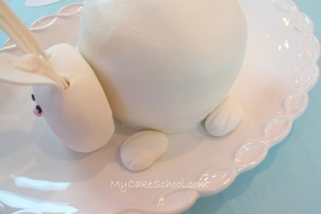 CUTE Bunny Cake Tutorial by MyCakeSchool.com! Free step by step cake tutorial. MyCakeSchool.com Online Cake Tutorials, Cake Videos, Cake Recipes, and more!