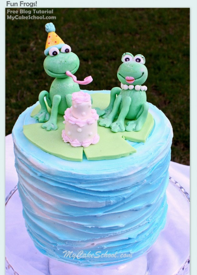 Sweet Frog Cake Topper Tutorial! Free Cake Decorating Tutorial by MyCakeSchool.com