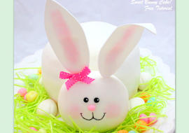 Adorable Bunny Cake Tutorial by MyCakeSchool.com. Free step by step cake tutorial. Perfect for Easter!
